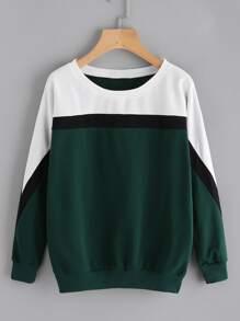 Contrast Panel Sweatshirt