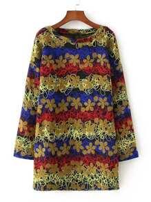Flower Pattern Shift Dress