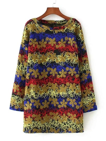 Flower Pattern Shift Dress