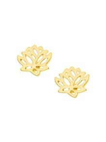 Hollow Lotus Stud Earrings