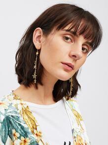 Mini Star Decorated Drop Earrings