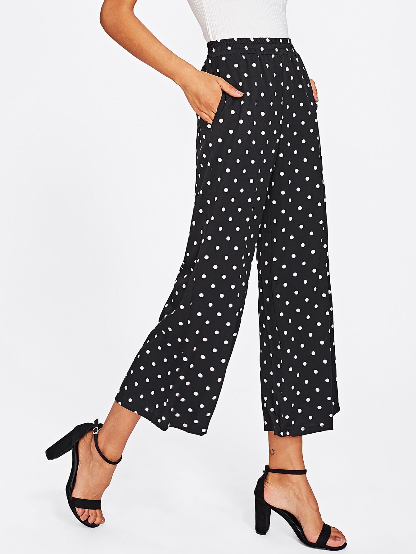 Polka Dot Wide Leg Pants