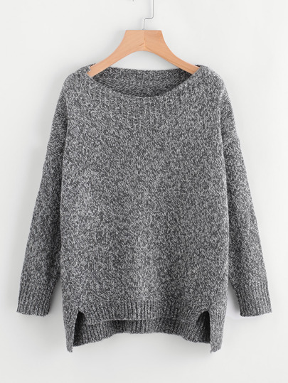 Raw Cut Dip Hem Sweater