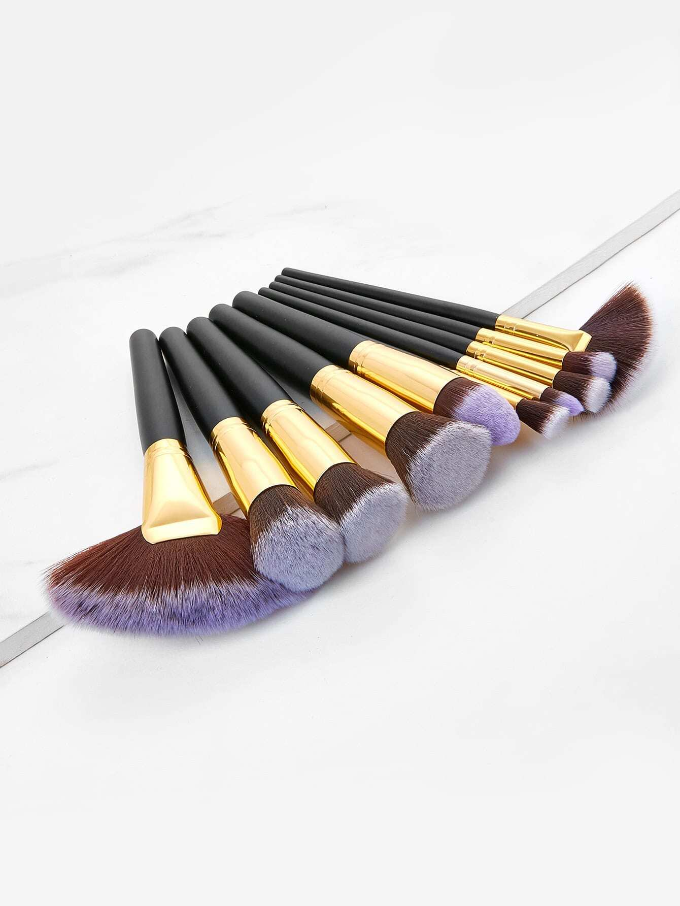 Two Tone Makeup Brush 10pcs 10pcs m66291