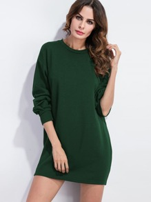Drop Shoulder Sweatshirt Dress