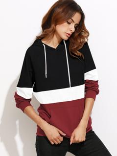 Cut And Sew Raglan Sleeve Pocket Hoodie