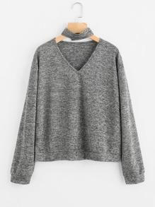 Sweat-shirt col en V