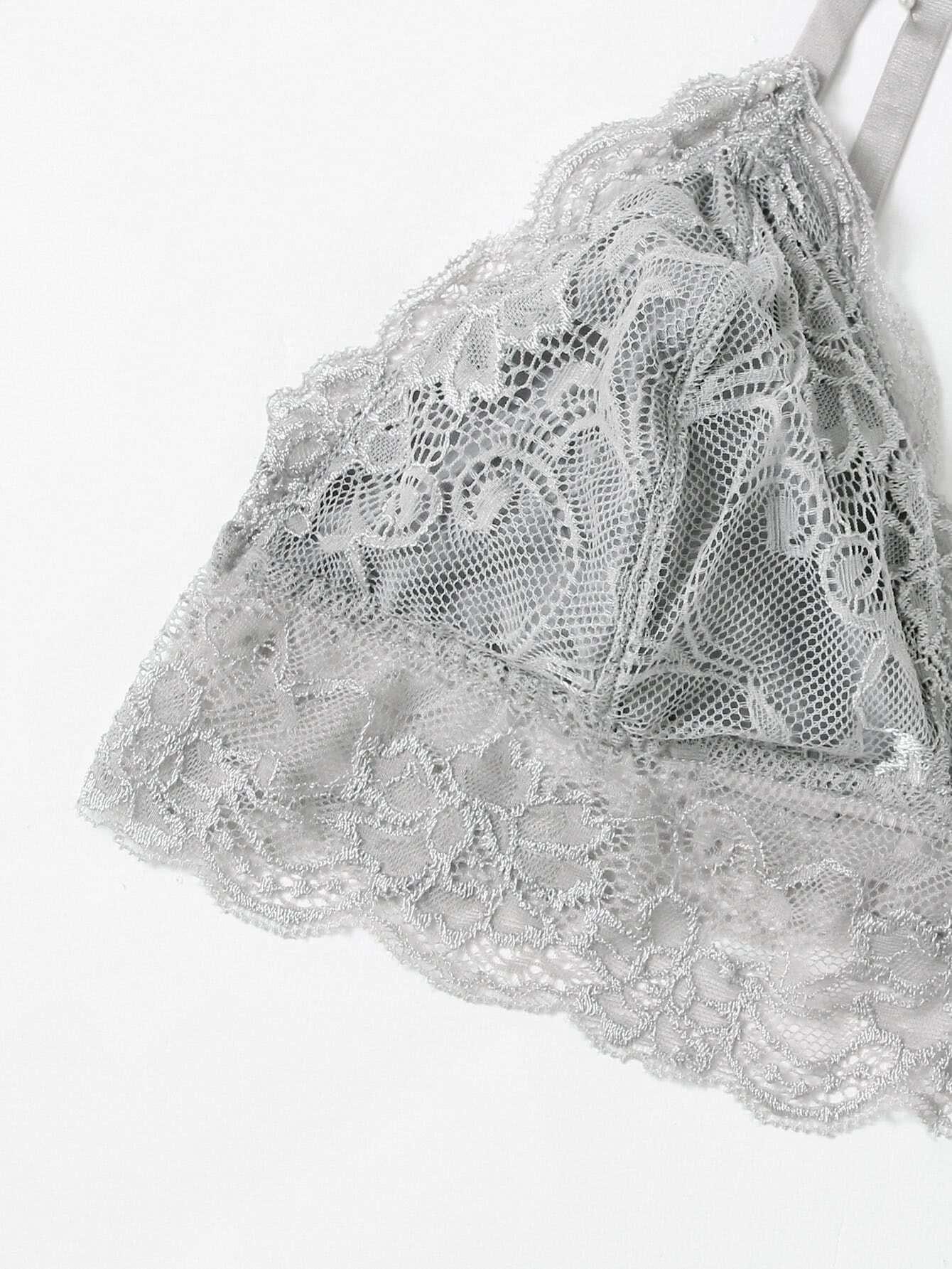 Lace Trim Triangle Bralette