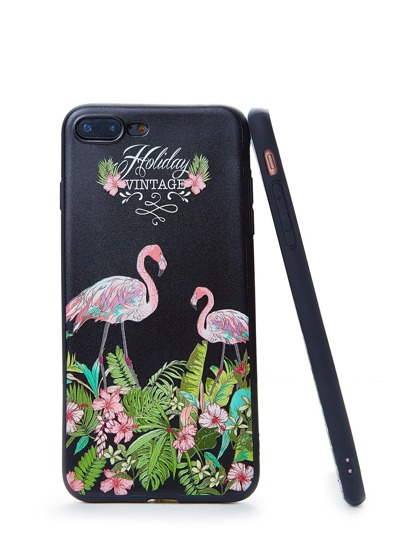 Iphone Handyhülle mit Flamingomuster