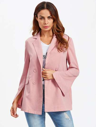 Split Sleeve Double Breasted Blazer