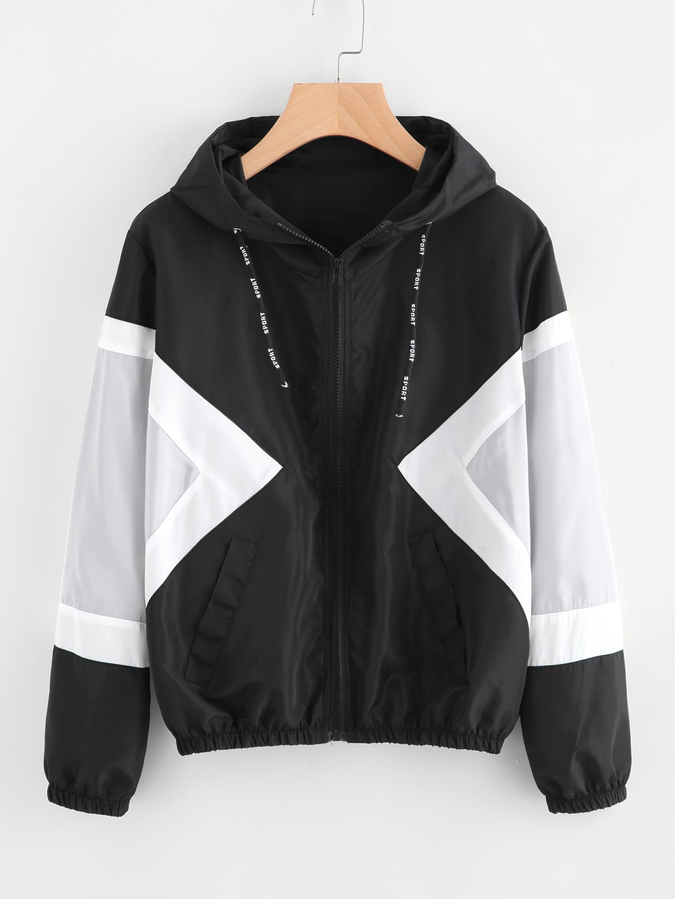 Contrast Panel Hooded Jacket champion hooded jacket