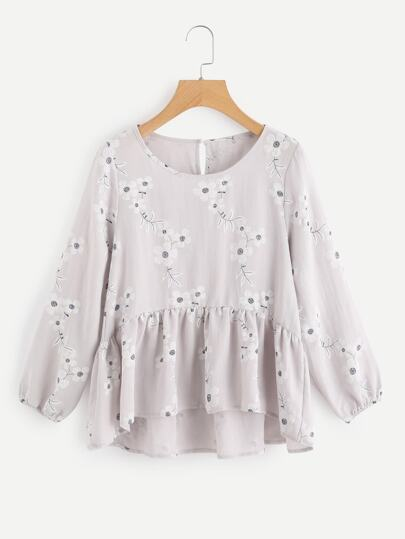 Bluse mit Calicomuster