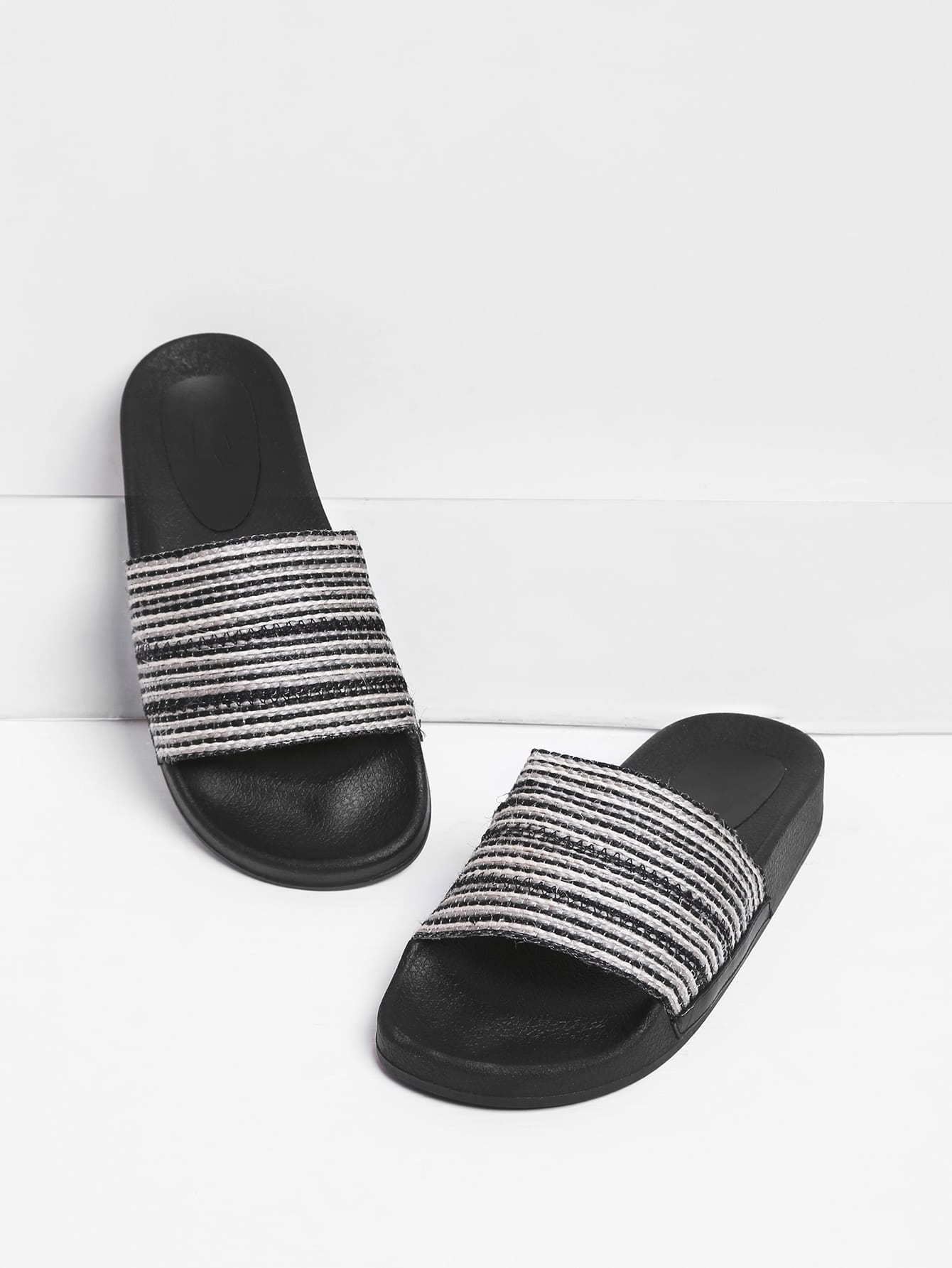 Image of Criss Cross Woven Wedge Sandals