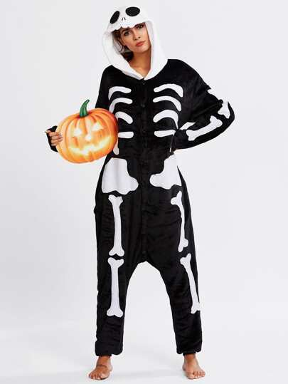Halloween Skeleton Pj Jumpsuit