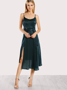 O Ring Spaghetti Strap Dress TEAL