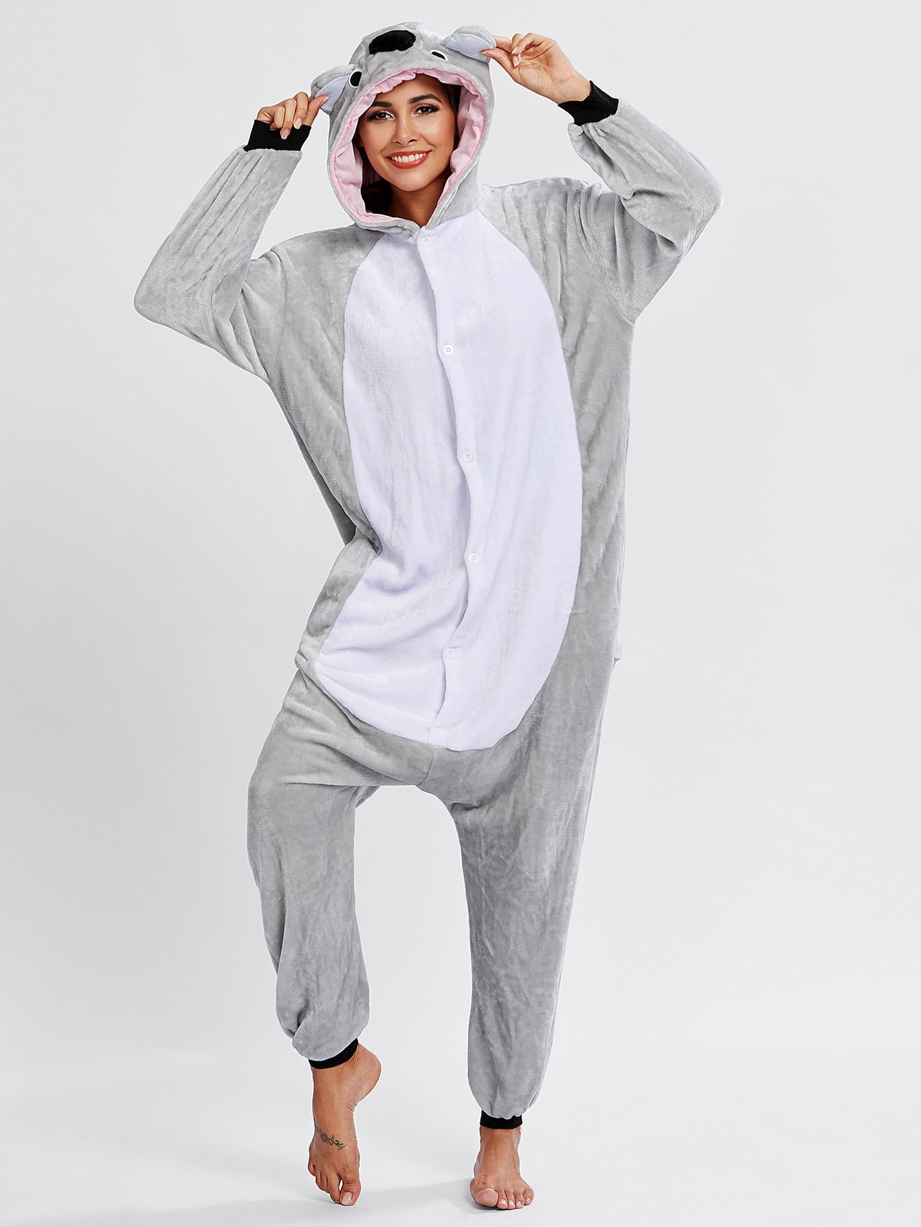 Button Through Koala Pj Jumpsuit