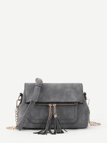 Модная сумка с бахромой