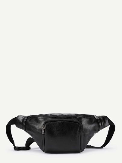 Zipper Pocket PU Bum Bag