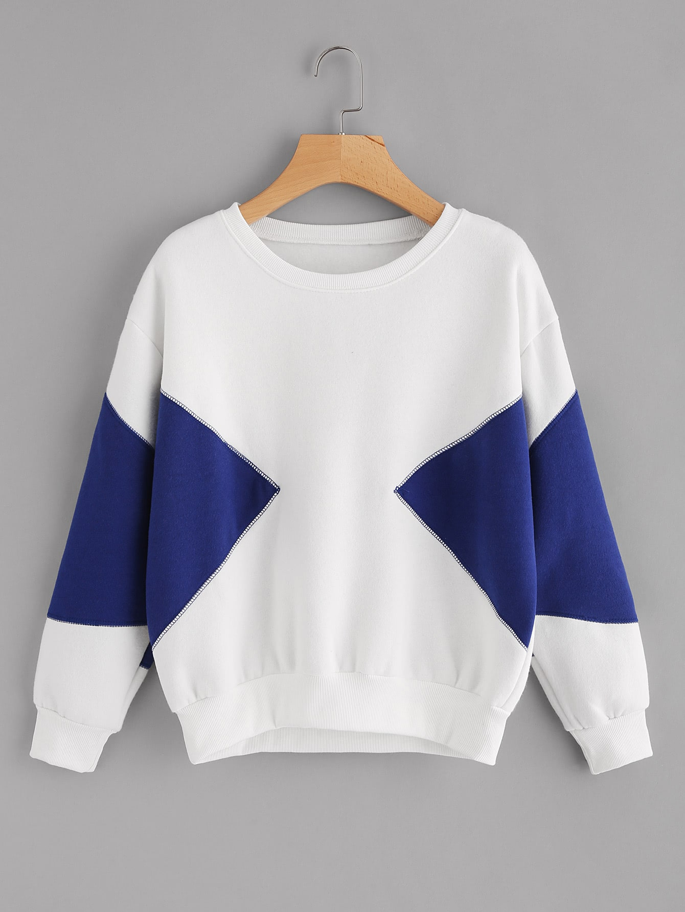 все цены на Color Block Thicker Sweatshirt