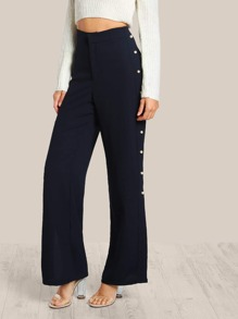 Pearl Embellished Pants NAVY