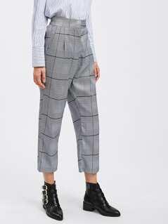 Tartan Plaid Straight Pants