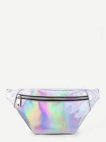 Sac de taille iridescent avec ceinture moulante