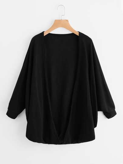 Batwing Sleeve Cardigan Coat