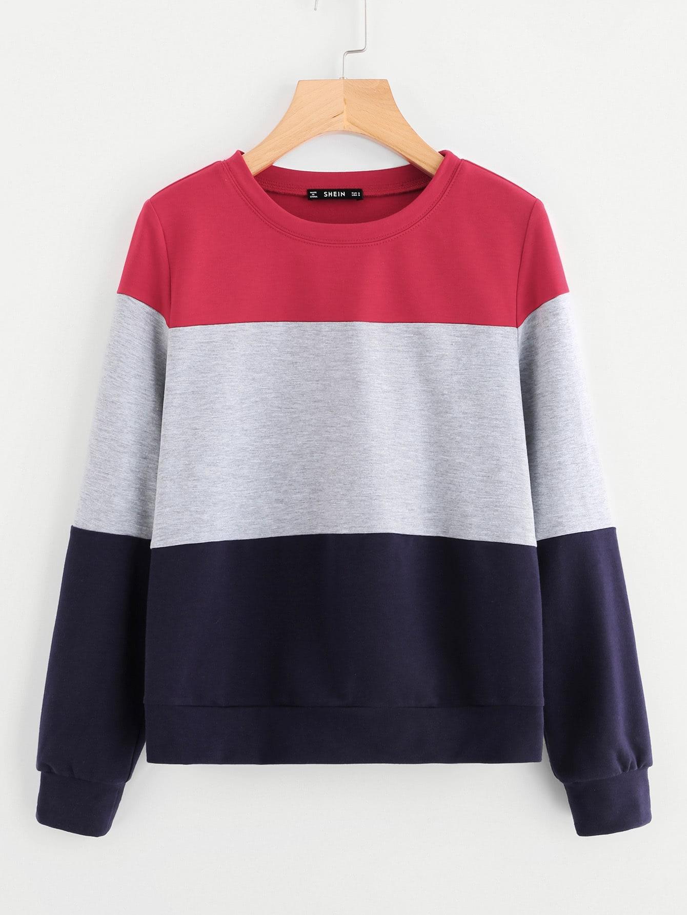 Cut And Sew Sweatshirt measure cut sew
