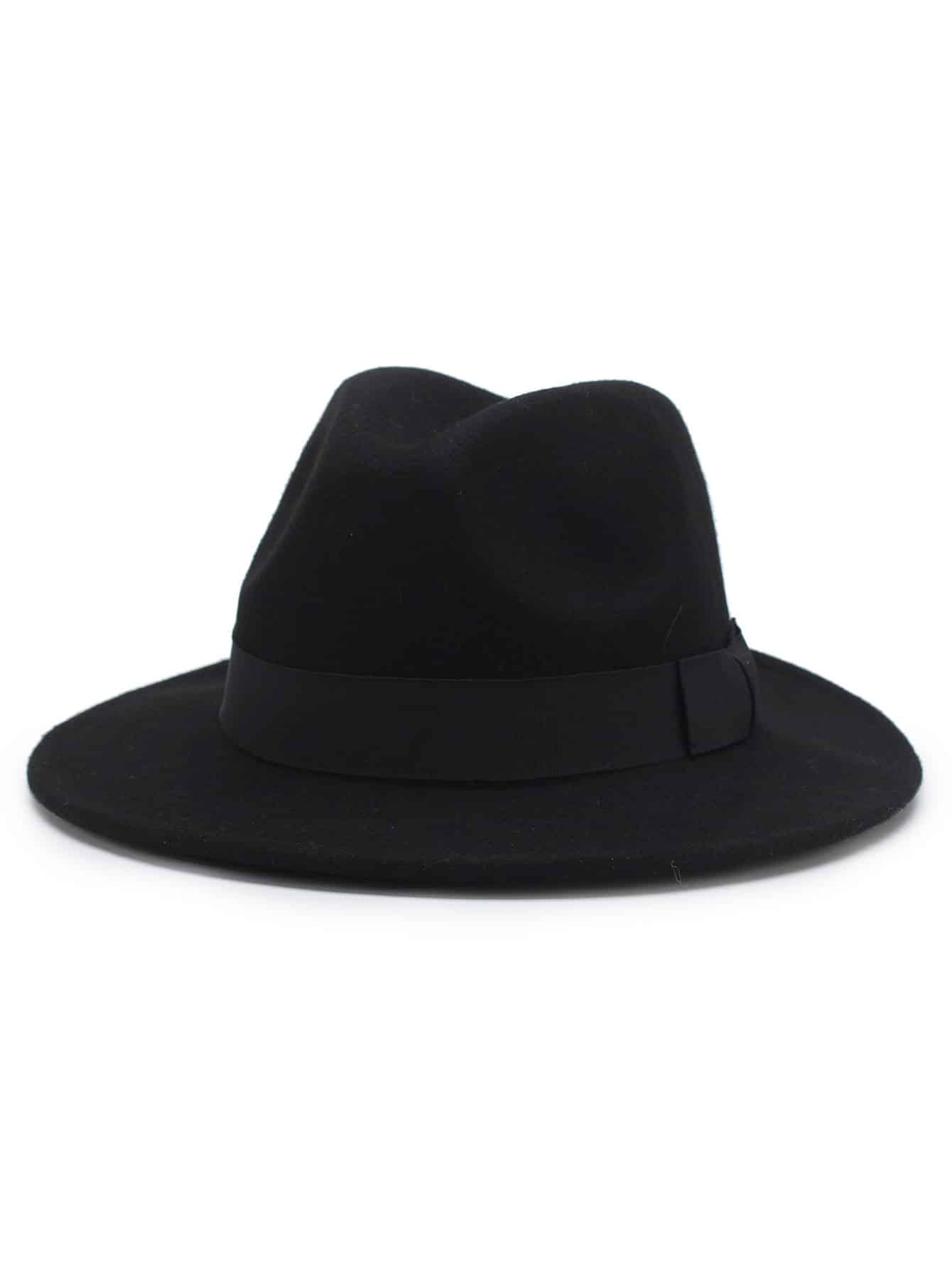 Image of Bow Detail Wool Blend Panama Hat
