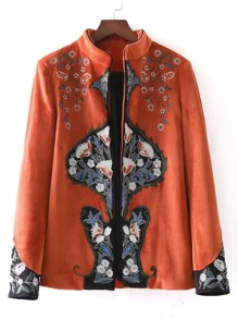 Embroidered Tailored Chinoiserie Blazer