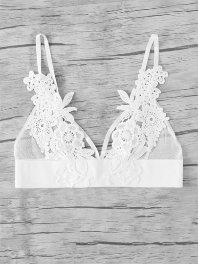 Strappy Floral Lace Bralette
