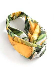 Jungle Print Twist Headband