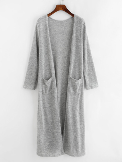 Double Pockets Long Cardigan