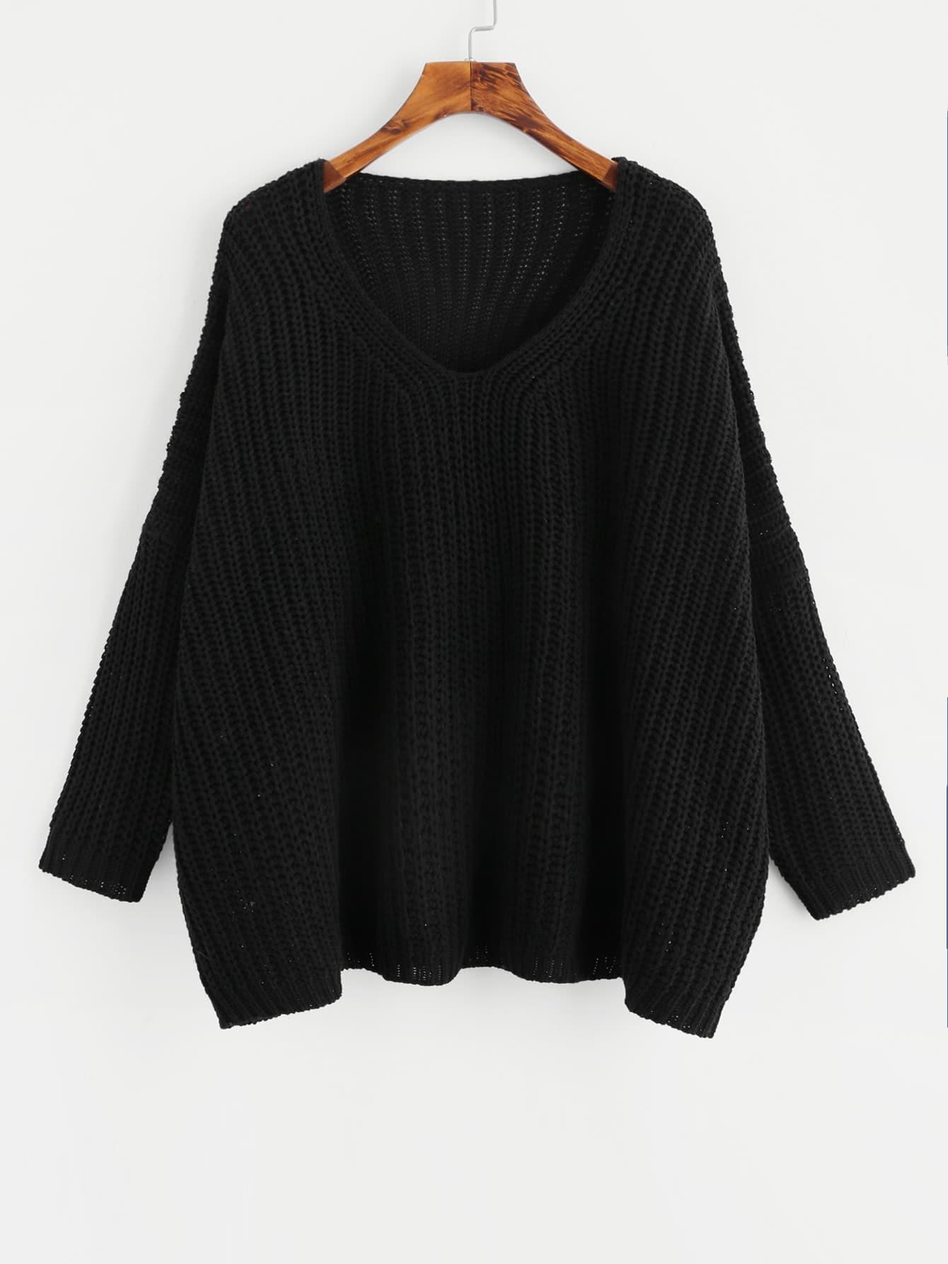 Loose Knit Oversize Jumper flounce trim loose knit jumper