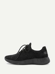 Модные бархатные туфли со шнуровкой