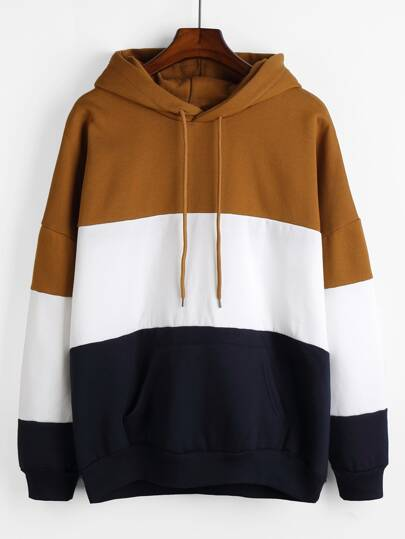 Cut And Sew Drop Shoulder Hoodie