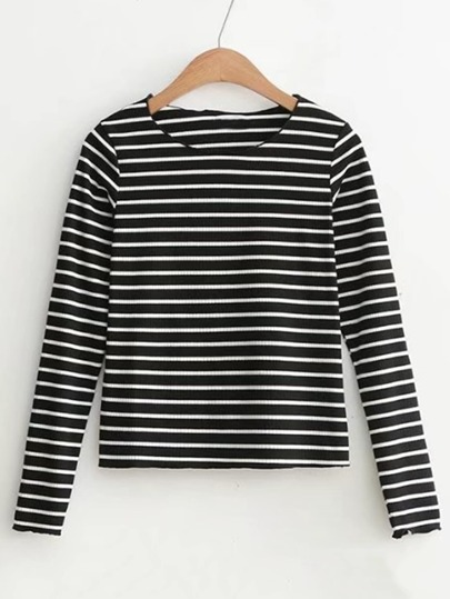 Slim Fit Striped Top