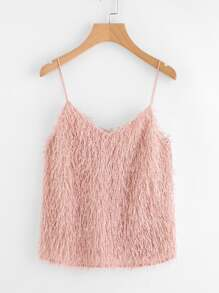 Fringe Fluffy Cami Top