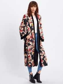 Kimono con cinturón de cuero