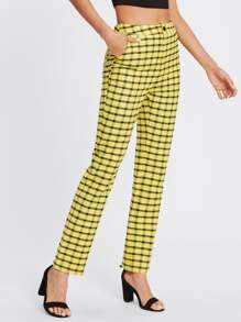 Pantalons vichy avec poche