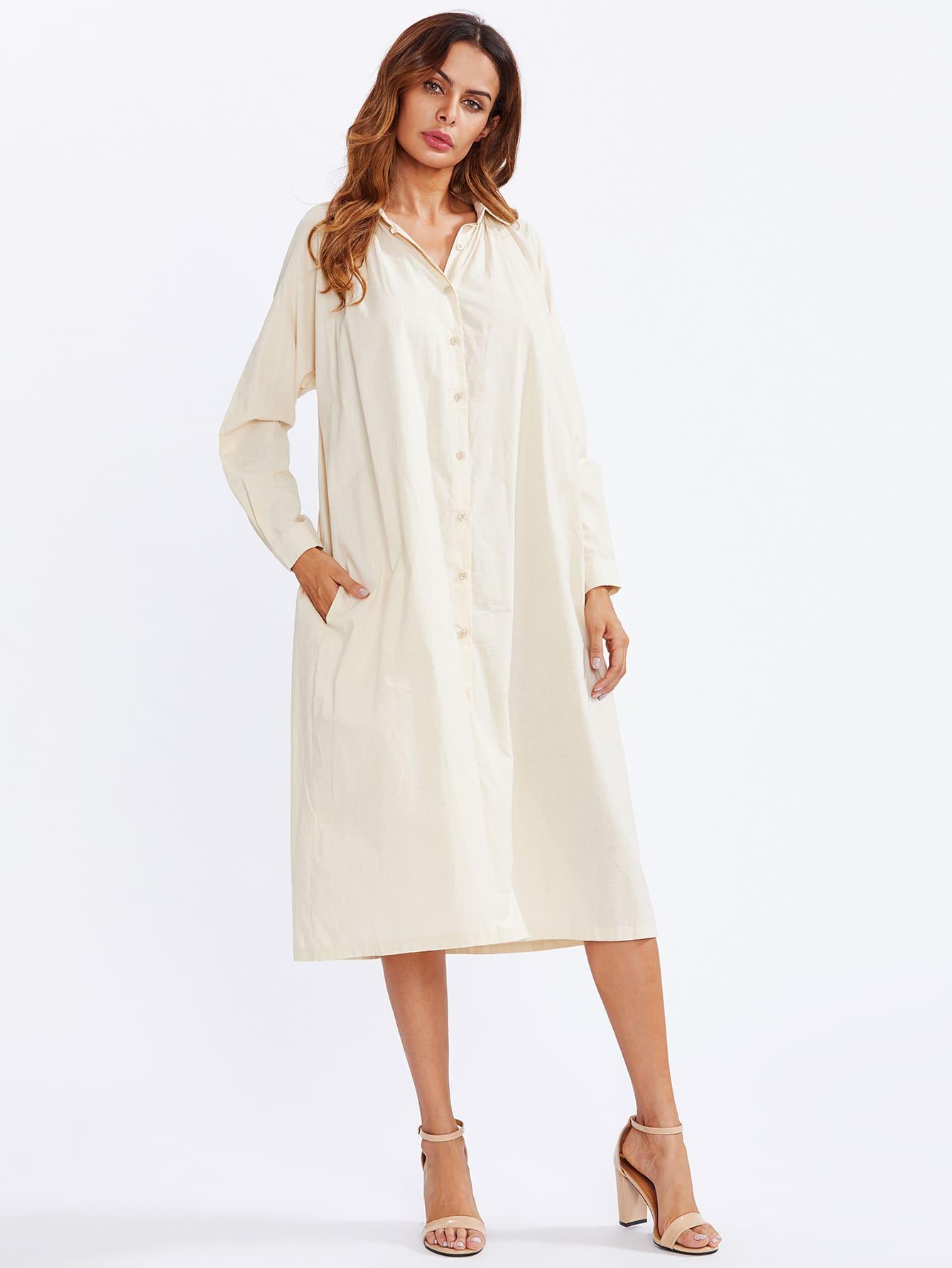 Hidden Pocket Shirt Dress