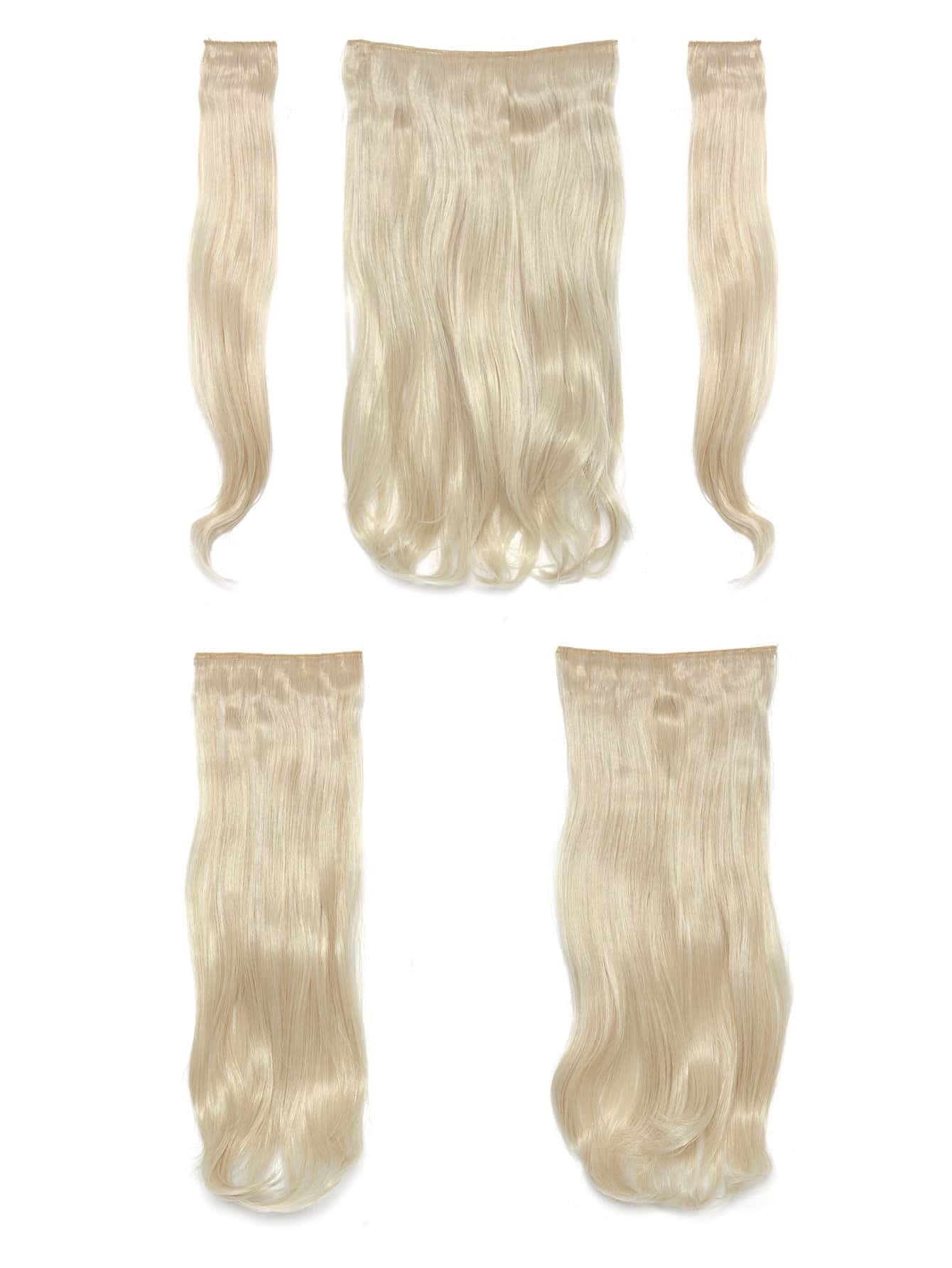 Light Blonde Clip In Soft Wave Hair Extension 5pcs