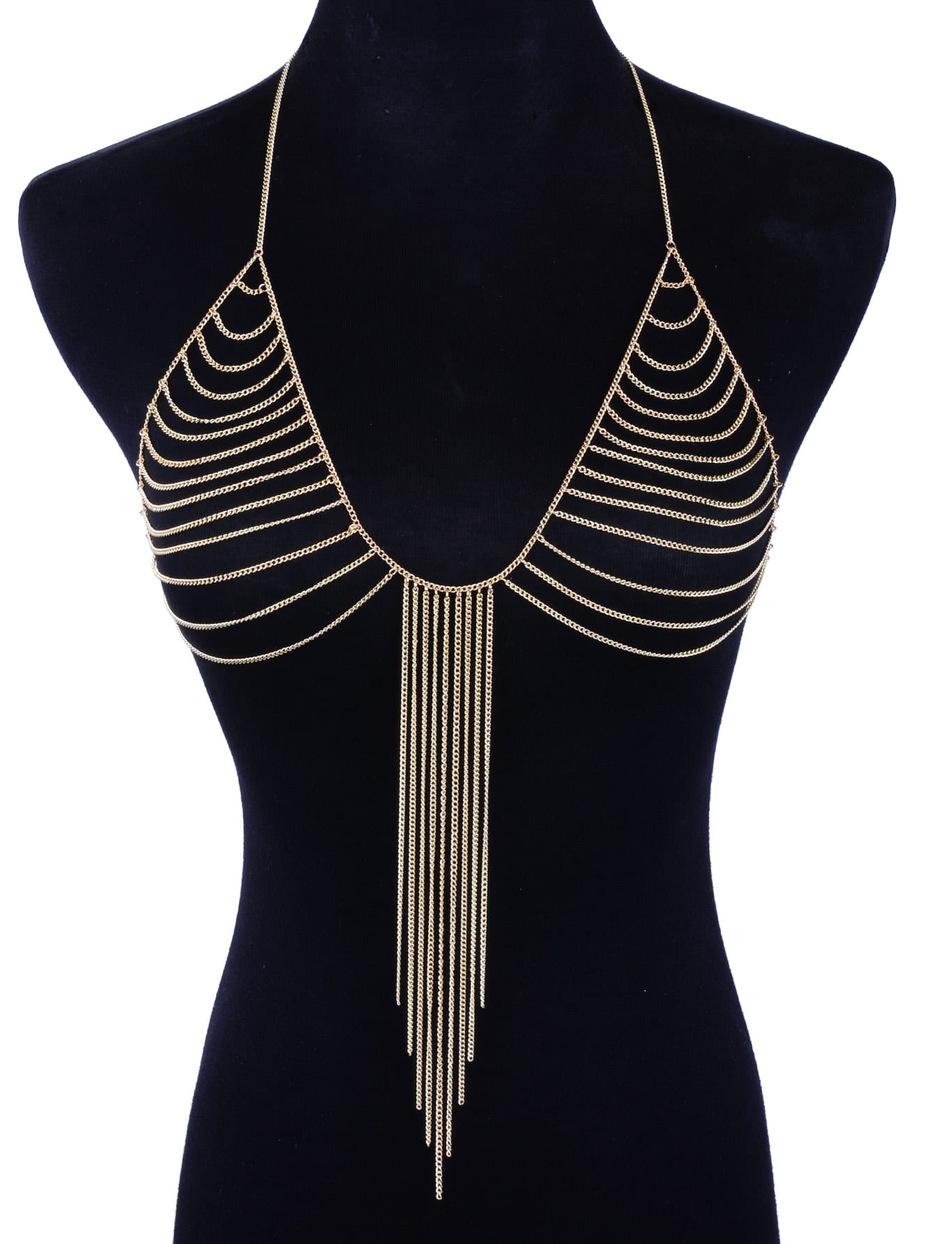 Chain Tassel Bralet Body Chain