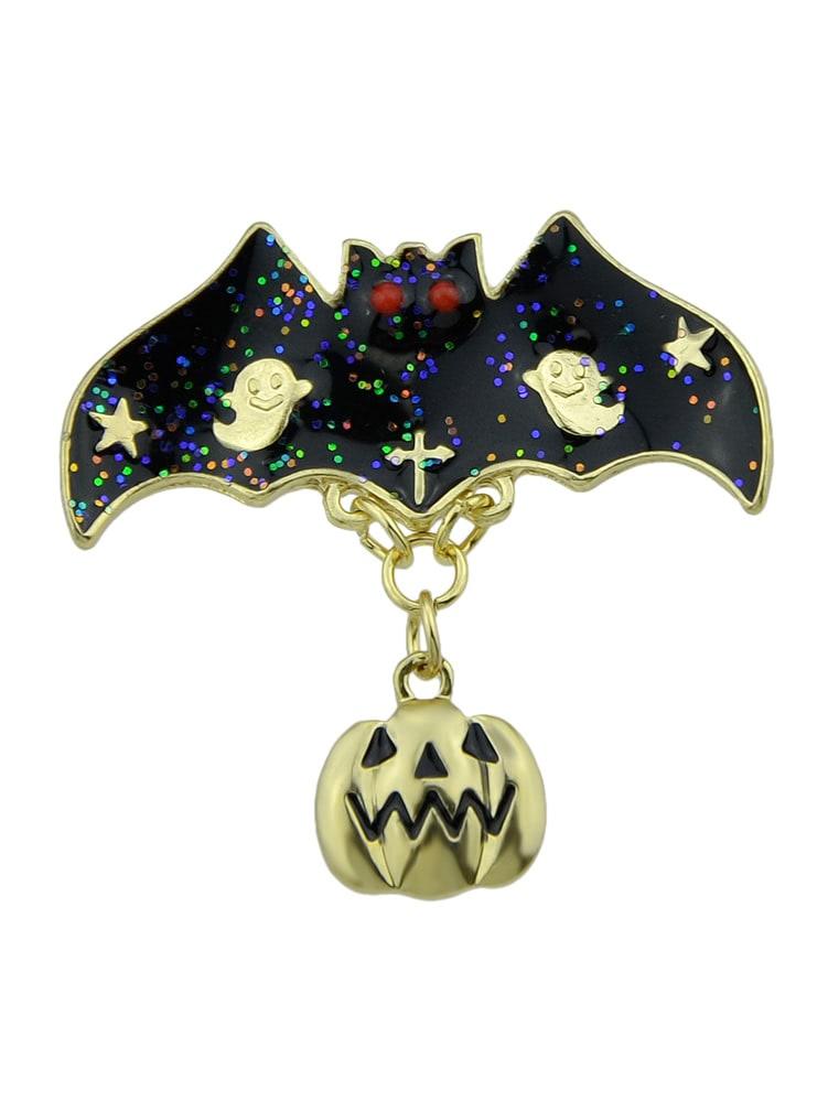 Halloween Funny Bat Pumpkin Brooch