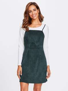 Solid Cord Cami Dress
