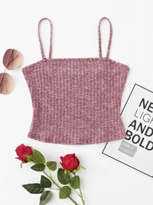 Rib Knit Marled Cami Top