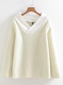 Cappotto in lana di agnello di Scollo Collo