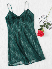 Bow Detail Lace Cami Nightdress