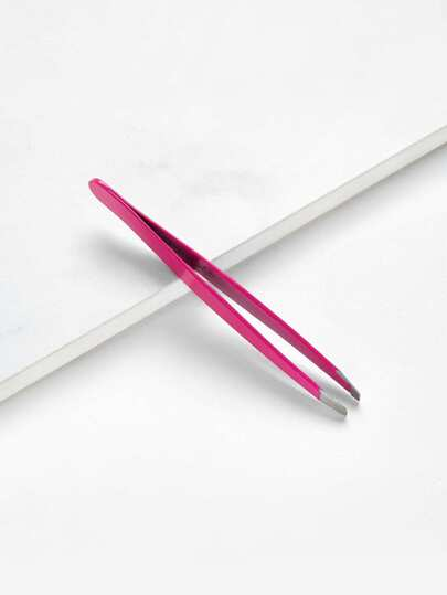 Stainless Steel Slanted Eyebrow Tweezer