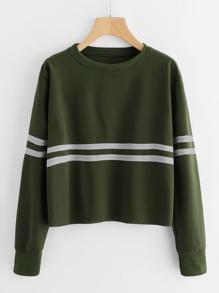 Contrast Striped Sweatshirt